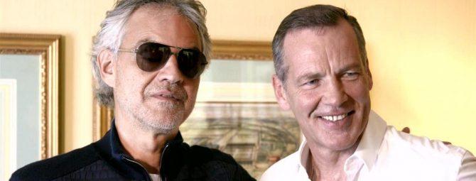 Andrea Bocelli und Henry Maske