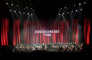 Konzert von Andrea Bocelli mit Symphonie-Orchester in Zürich.