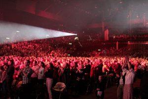 Publikum bei der Live-Show von Andrea Bocelli.